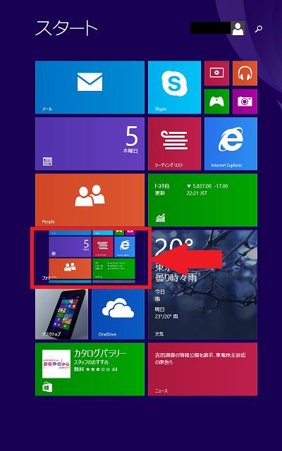Windowsタブレットでスクリーンショットを撮る for Windows8.1