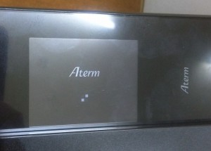 早速ルーター(Aterm MR04LN)にSIMを装着して使ってみる3