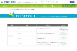 GH-USD16KのDisplayLink(ドライバ)を入れ直す。