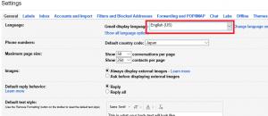 Gmailが英語モードになってた時の日本語への直し方3