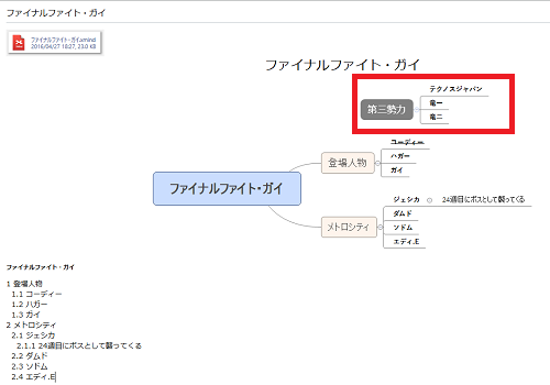 XmindのファイルをEvernoteに直接保存させる(連携させる)6