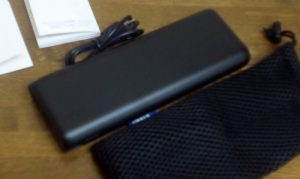 Keyniceのクリップ型USB扇風機をモバイルバッテリーで回す6