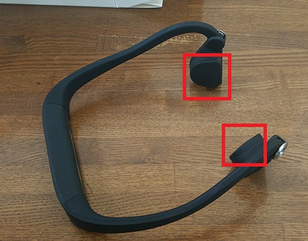 Sumeber 骨伝導 後掛け式 ヘッドセットを使ってみる4