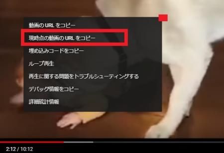 PC版Youtubeで動画を途中から(指定の秒数から)再生するURLの作成方法