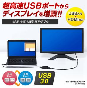 普通のモニタをUSBモニタにするアイテムUSB-HDMI変換アダプタ 500-KC008HDが面白そう